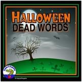 Halloween Dead Words