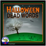 Halloween Writing - Dead Words Lists and Funeral Activities