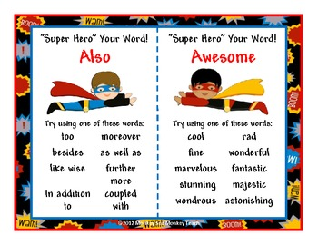 Dead/Boring Words: Super Hero Your Words ( Theme)