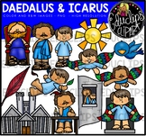 Daedalus and Icarus  - Greek Myth Clip Art Bundle {Educlips Clipart}
