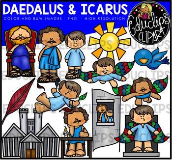 Daedalus and Icarus  - Greek Myth Clip Art Bundle {Educlips Clipart}