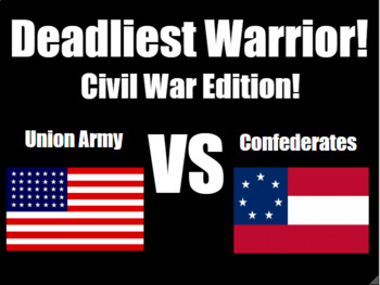 Deadliest Warrior: Civil War! PowerPoint