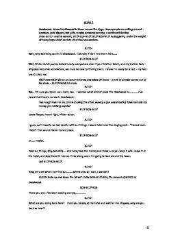 Deadlock in Deadwood comedy script