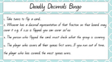 Deadly Decimals Bingo