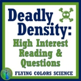 Density Activity High Interest Text and Questions Worksheet
