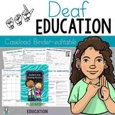 Deaf Education Caseload Binder-Editable