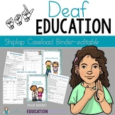 Deaf Education Caseload Binder-Editable in Shiplap