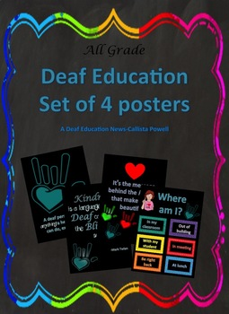 Deaf Education sets of 4 posters