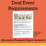 Deaf Event Requirements