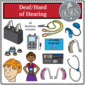 Deaf/Hard of Hearing (JB Design Clip Art for Personal or Commercial Use)