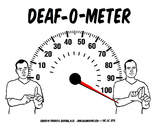 Deaf-O-meter G.O. Template or Poster