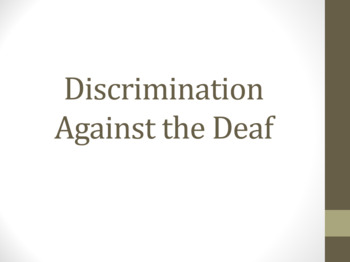 Deaf Discrimination