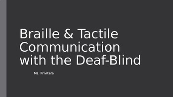 DeafBlind Unit