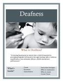 Deafness Brochure for Parents and Teachers