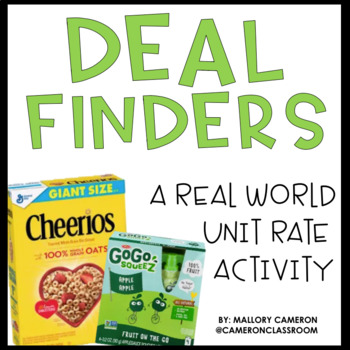 Deal Finders: A Real World Unit Rate Activity