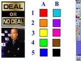 Promethean Board Deal or No Deal Game
