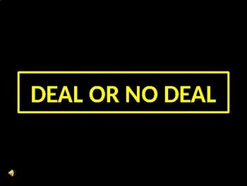 Deal or No Deal Game Avancemos 2 Unit 1 Lesson 2