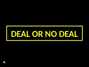 Deal or No Deal Game Avancemos 3 Unit 2