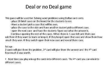 Deal or No Deal (Math)
