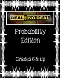 Deal or No Deal Probability Game for Grades 6 and up