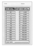 Deal or No Deal - Probability in Action!