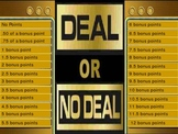 Deal or No Deal Template