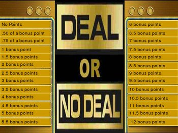 deal or no deal template by mrs t teachers pay teachers