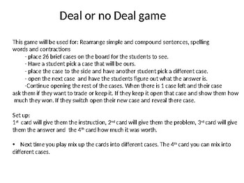 Deal or No Deal (english)