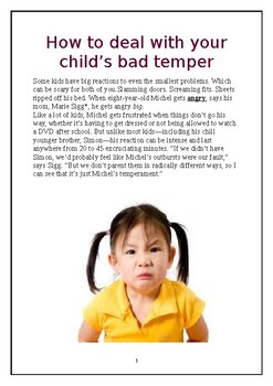 Deal with short temper kids