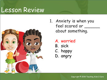 How to Deal With Anxiety: An Interactive PowerPoint / Whiteboard Lesson