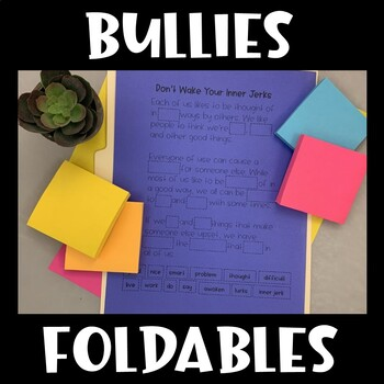 Social Skills Interactive Notebook (Dealing with Bullies)