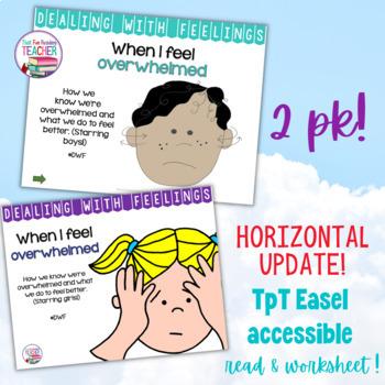 Feelings, Emotions: When I Feel Overwhelmed (2 pk) | Distance Learning