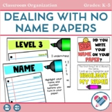 Dealing With No Name Papers - Editable No Name Management System