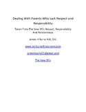 Dealing WithParents Who Lack Respect and Responsibility