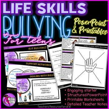 Dealing with Bullying for Teens (PowerPoint and Printables)