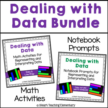 Graph Journal Prompts and Low Prep Math Centers-Dealing with Data Bundle