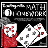 Dealing with Math Homework: 1st Grade Math Card Games Unit