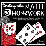 Dealing with Math Homework: 3rd Grade Math Card Games Unit
