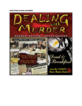Dealing with Murder Series: 2 Cases - Fatal Error and Dead & Breakfast