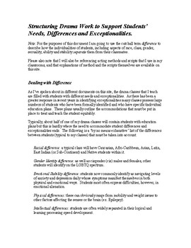 Dealing with Student 'Difference' and Exceptionalities