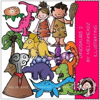 Melonheadz: Dinosaurs clip art Part 2 - COMBO PACK