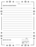 Dear 4th grade teacher letter