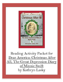 Dear America: Christmas After All Reading Activity Packet