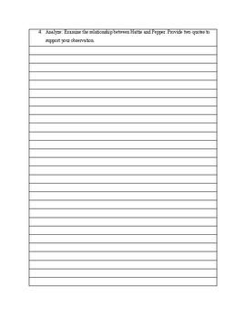 Dear America Oregon Trail Diary Hattie Campbell Bloom's Assessment