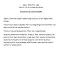 Dear Chemist Inquiry Lab of Sodium Acetate