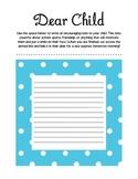 Dear Child: Write a Letter (Parent Teacher Conferences)