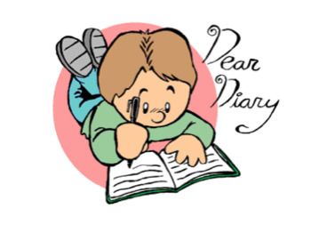 Image result for diary entry cartoon