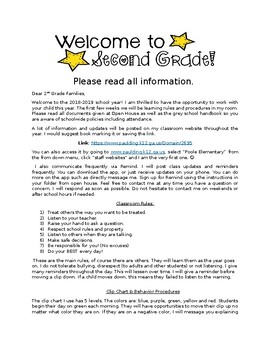 Dear Families First Day of School Info Letter