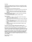 Dear Family letter to help teach volume