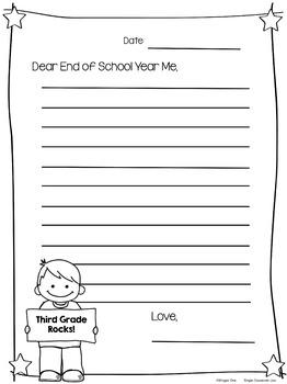 Dear Future Me {Beginning of Year Writing}